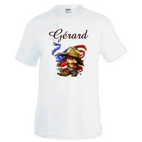 Tee shirt homme Country Western personnalisé avec prénom