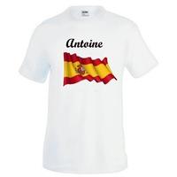 Tee shirt homme Espagne personnalisé avec prénom