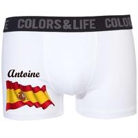 Boxer caleçon homme Espagne personnalisé avec prénom