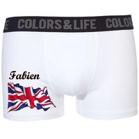 Boxer caleçon homme Anglais personnalisé avec prénom