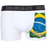Boxer caleçon homme Brésil personnalisé avec prénom