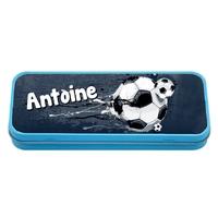 Plumier Boite à crayons Football personnalisé avec prénom