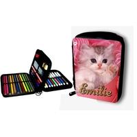 Trousse garnie Chat chaton personnalisée avec prénom au choix