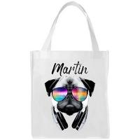 Sac shopping cabas Carlin DJ personnalisé avec prénom
