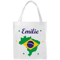 Sac shopping cabas Brésil personnalisé avec prénom