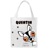 Sac shopping cabas Chihuahua personnalisé avec prénom