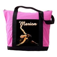 Sac cabas rose Danse personnalisé avec prénom