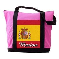 Sac cabas rose Espagne personnalisé avec prénom