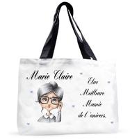 Grand sac cabas Meilleure mamie de l'univers personnalisé avec prénom