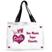 Grand sac cabas Mamie super chouette personnalisé avec prénom