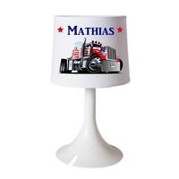 Lampe de chevet ou de bureau Camion personnalisée avec prénom
