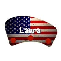 Porte manteau USA personnalisé avec prénom