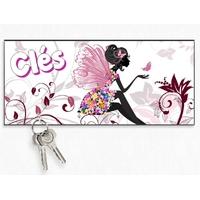 Accroche clés mural en bois Fée Fairies