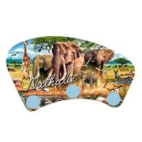 Porte manteau Animaux d'afrique personnalisé avec prénom