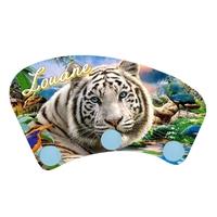 Porte manteau Tigre blanc personnalisé avec prénom