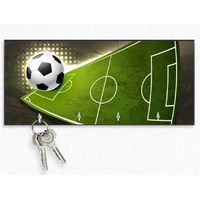 Accroche clés mural en bois Football