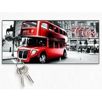 Accroche clés mural en bois Anglais Londres