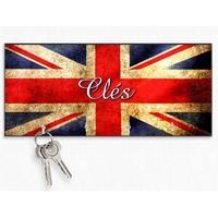 Accroche clés mural en bois Anglais