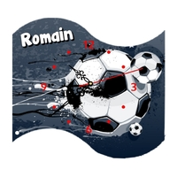 Pendule Football personnalisée avec prénom au choix