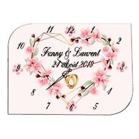 Pendule murale Mariage personnalisée avec prénoms et date au choix