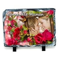 Maman Fête des mères...Ardoise personnalisée avec votre photo et votre texte....