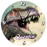Pendule murale Dinosaure personnalisée avec prénom