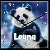 Pendule murale Panda personnalisée avec prénom