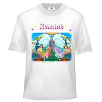 Tee shirt enfant Licorne poney personnalisé avec prénom