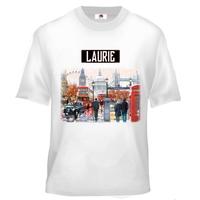 Tee shirt enfant Anglais Londres personnalisé avec prénom