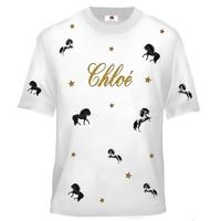 Tee shirt enfant Cheval personnalisé avec prénom