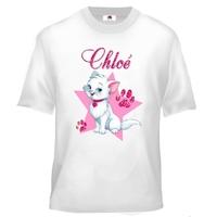 Tee shirt enfant Chat de princesse personnalisé avec prénom