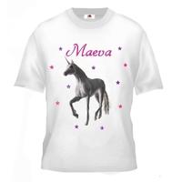 Tee shirt enfant Licorne personnalisé avec prénom