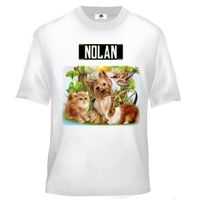 Tee shirt enfant Animaux de compagnie personnalisé avec prénom