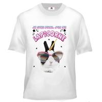 Tee shirt enfant humour Je m'en fous j'ai un lapicorne ( lapin + licorne )