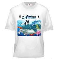Tee shirt enfant Animaux marins personnalisé avec prénom