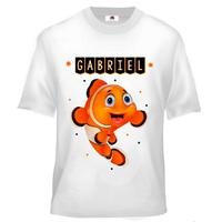 Tee shirt enfant Poisson clown personnalisé avec prénom
