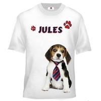 Tee shirt enfant Chien Beagle personnalisé avec prénom
