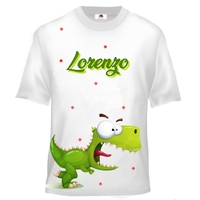 Tee shirt enfant Dinosaure Dino rigolo personnalisé avec prénom