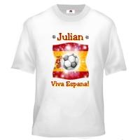 Tee shirt enfant Football Espagne personnalisé avec prénom