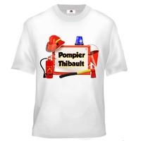 Tee shirt enfant Pompier personnalisé avec votre prénom