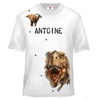 Tee shirt enfant Dinosaure personnalisé avec votre prénom