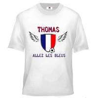 Tee shirt enfant Foot France Football personnalisé avec prénom