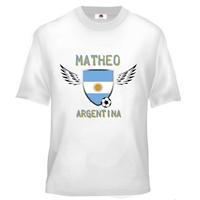 Tee shirt enfant Foot Argentine Football personnalisé avec prénom