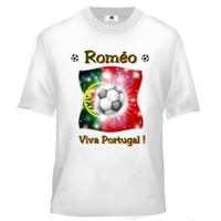 Tee shirt enfant Football Portugal personnalisé avec prénom