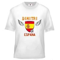 Tee shirt enfant Foot Espagne Football personnalisé avec prénom
