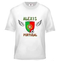 Tee shirt enfant Foot Portugal Football personnalisé avec prénom