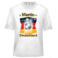 Tee shirt enfant Football Allemagne personnalisé avec prénom