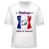 Tee shirt enfant Football France personnalisé avec prénom