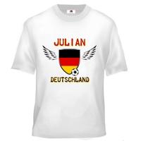 Tee shirt enfant Foot Allemagne Football personnalisé avec prénom