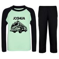 Pyjama enfant Camion de pompier personnalisé avec prénom